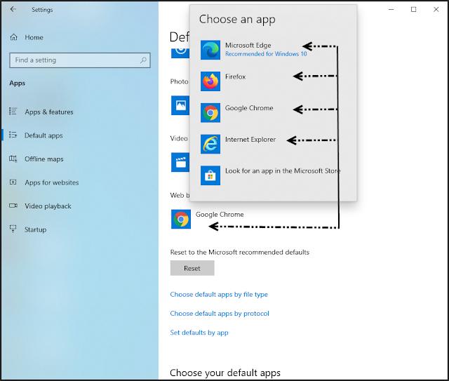 طريقة إضافة أو تعديل البرامج الإفتراضية فى ويندوز 10