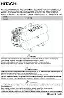 Hitachi EC89 Compressor Manual