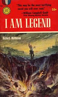 I am legend. Richard Matheson. Editora Gold Medal Books. Julho de 1954. Capa de Stanley Melzoff.