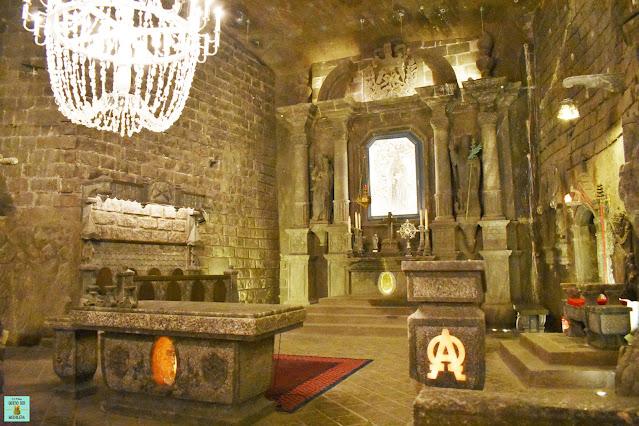 Capilla St Kinga en las Minas de Sal de Wieliczka, Polonia