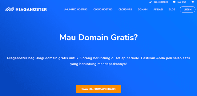 program domain gratis niagahoster