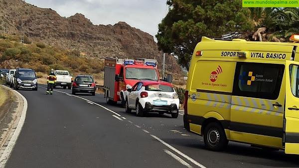 Accidente ayer de dos vehículos en La Grama