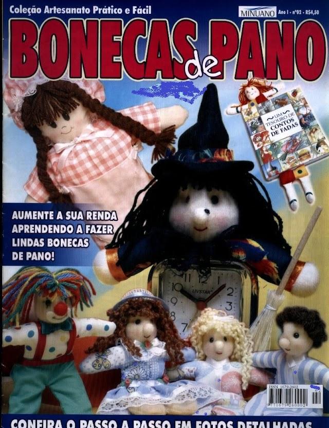 Coleção Artesanato Pratico E Fácil Bonecas De Pano