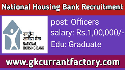 National Housing Bank Officers Recruitment, NHB Officers Recruitment