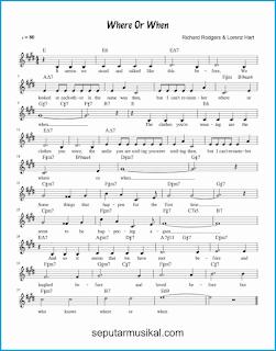 chord where or when lagu jazz standar