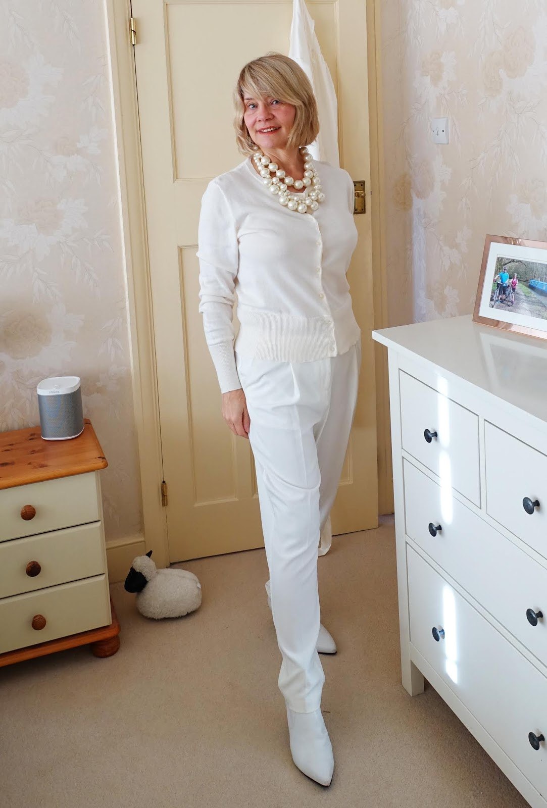 A winter white outfit from head to toe for style blogger Gail Hanlon from over-50s fashion blog Is This Mutton?