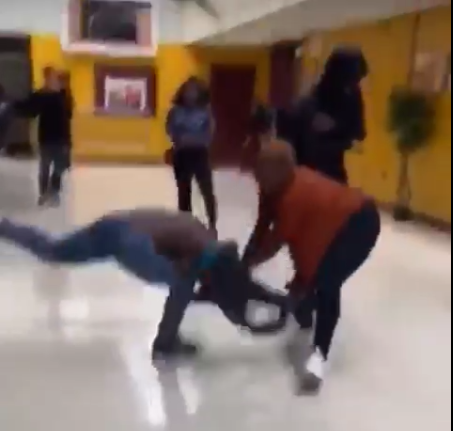 18+ Video: Valentine Fight: Side chick and main chick fights dirty in a mall on Valentine's day, n*k*d each other