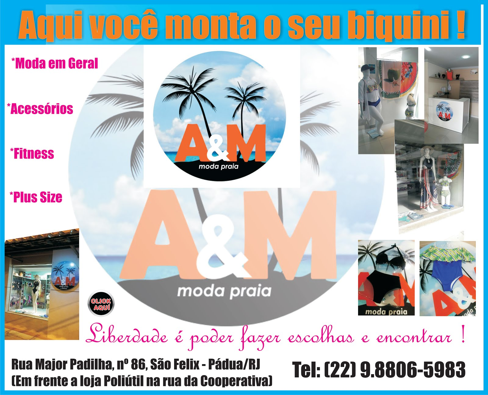 A&M MODA PRAIA, FTNESS & PLUS SIZE !