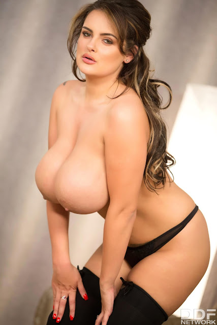 Katie Thornton big boobs naked bent down