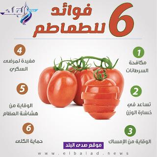 الفوائد الست للطماطم