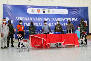 Serbuan Vaksinasi Covid-19 Gencar dilaksanakan Kabupaten Pati Jateng
