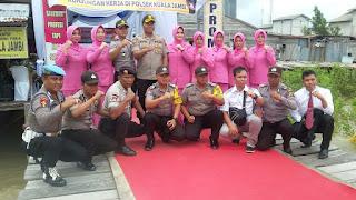 Kunjungan ke Polsek Kuala Jambi, Kapolres Tanjabtim Ajak Masyarakat Jaga Keamanan