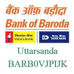 Vijaya Baroda Bank Uttarsanda Branch New IFSC, MICR