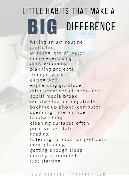 List of Little Habits that make a Big Difference