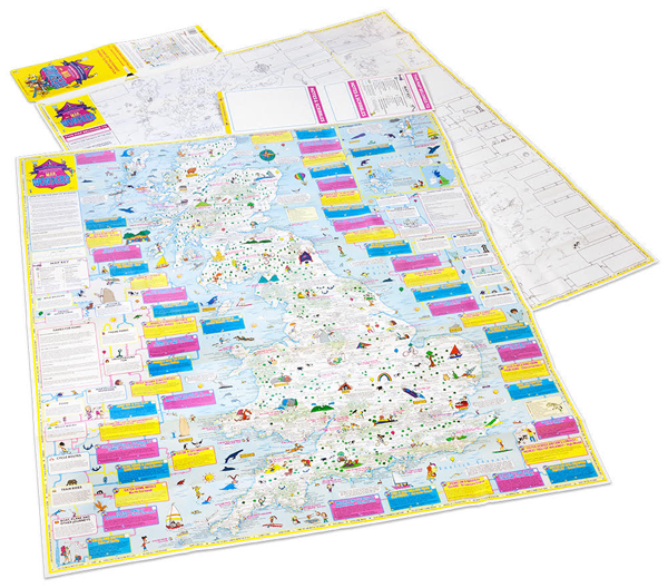Stock Image of the  A brand new map of Britain for kids