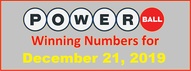 PowerBall Winning Numbers for Saturday, December 21, 2019