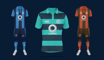 Football or Soccer Jersey and Logo Mockup