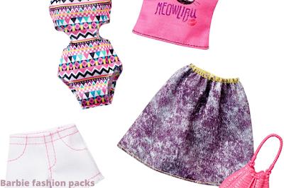 barbie fashion packs