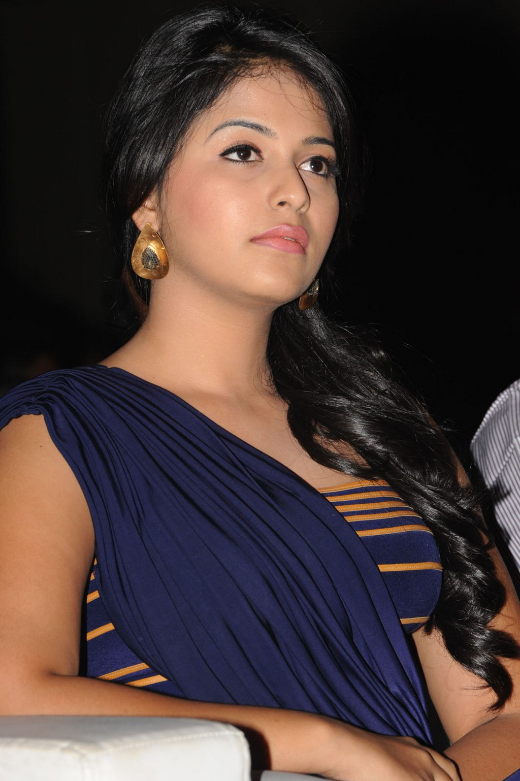 Anjali Photos In Blue Dress