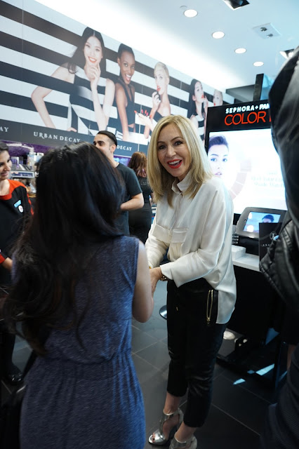 Meeting Anastasia Soare, founder of Beverly Hills, at Sephora.