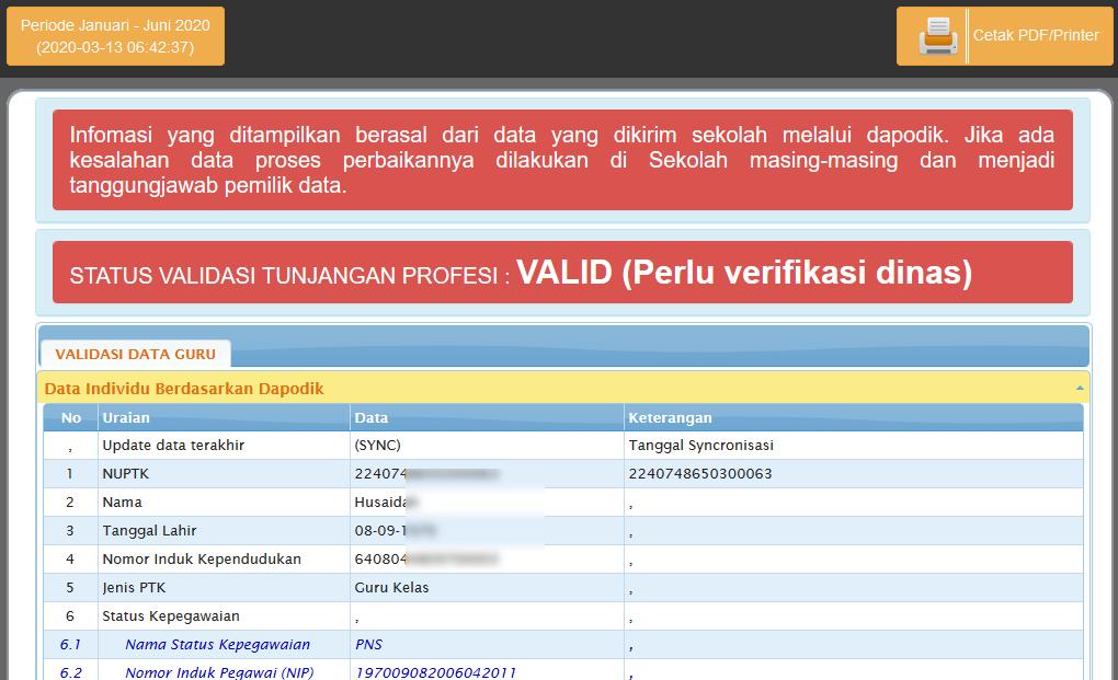 Cara Cetak Info Gtk 2021 Ke Format Pdf