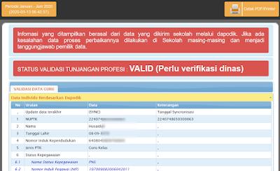 valid perlu verifikasi dinas