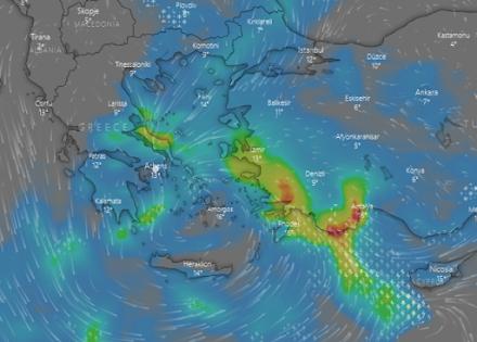 Meteo24news.gr: Τοπικές βροχές στα ανατολικά και νότια αύριο Τρίτη