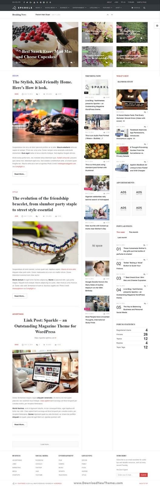 Responsive News Magazine Drupal Theme