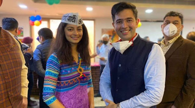 Previous Miss India Delhi Mansi Sehgal joined the Aam Aadmi Party (AAP) within the sight of gathering pioneer Raghav Chadha