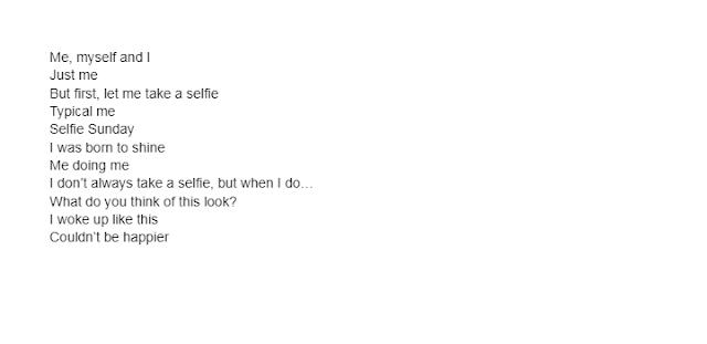 Instagram Captions for Selfies