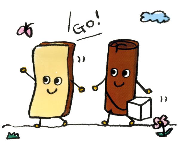 Yamakazi_Agepan Snack_Cinnamon Sugar_Mascots