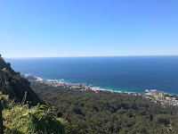 Picture of the view from the lookout over Wollongong