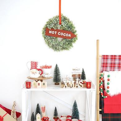 DIY Bar à Chocolat Chaud pour Noël