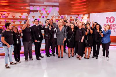A equipe do programa reunida (Crédito: Gabriel Cardoso/SBT)
