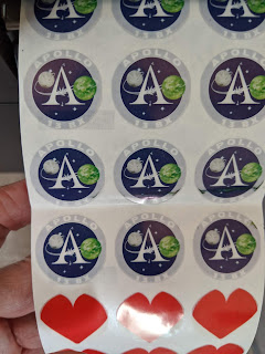 "1"" Clear Film  Circle 6 UP Labels"