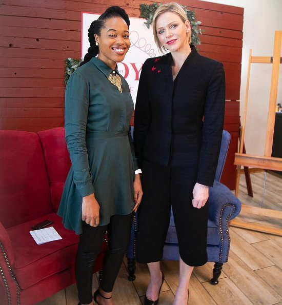 Thando Aaliyah Kubheka, a magazine reporter, shared two photos on her Instagram account, showing herself and TPrincess Charlene together.