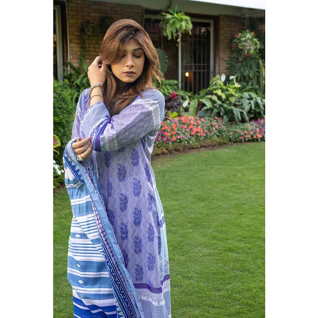 Gul Ahmed Light Blue color unstitched mothers collection