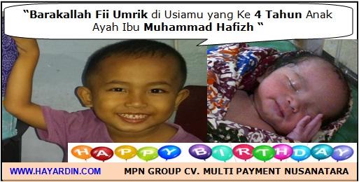 Ulang Tahun yang ke 4 Muhammad Hafizh