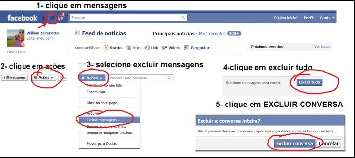 Como Apagar Fotos Do Face: Noticias Da Capa: Facebook- Como Apagar/excluir Bate Papo