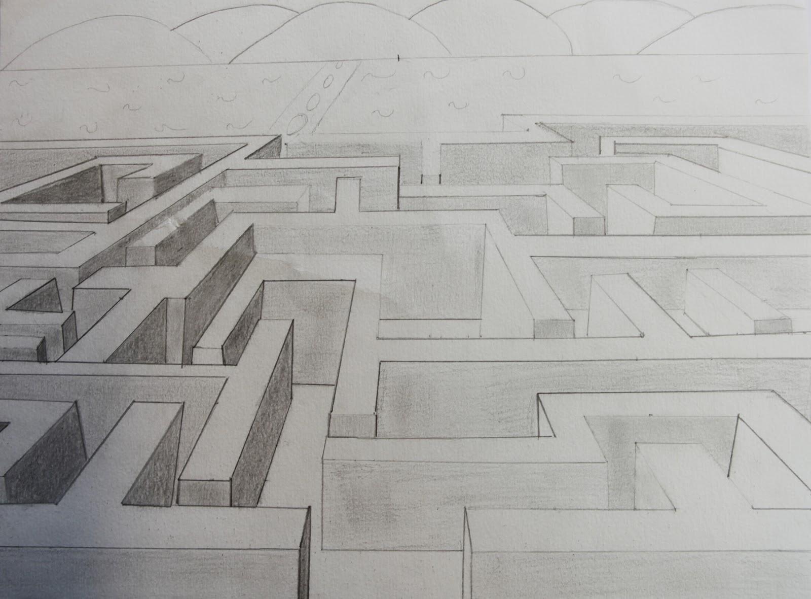 Artpla33 Le Labyrinthe Et Le Dessin En Perspective Selections De
