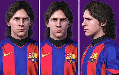 PES 2021 Faces Lionel Messi (Young) by Alireza