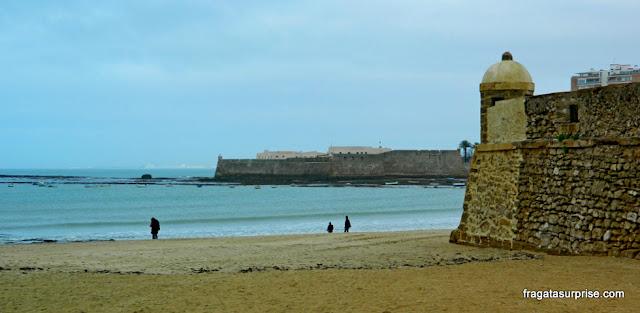 Praia de La Caleta, Cádiz, Andaluzia