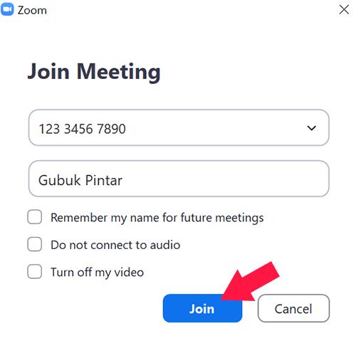 Cara Join Meeting di Zoom Menggunakan ID