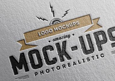 14 Mockup Logo Terbaik - Desain Nempel di Kertas
