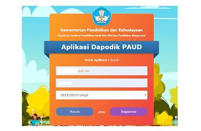 Aplikasi Dapodik PAUD Offline Versi 3.5.0 Telah Rilis Terbaru