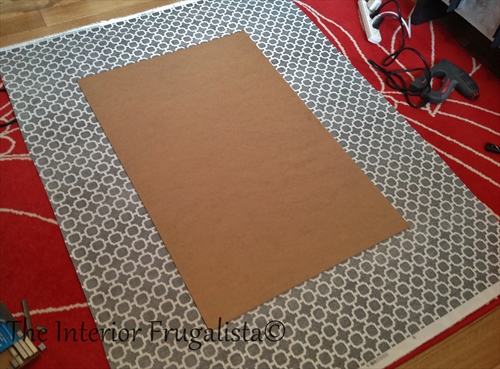 Fabric DIY Magnetic Bulletin Board