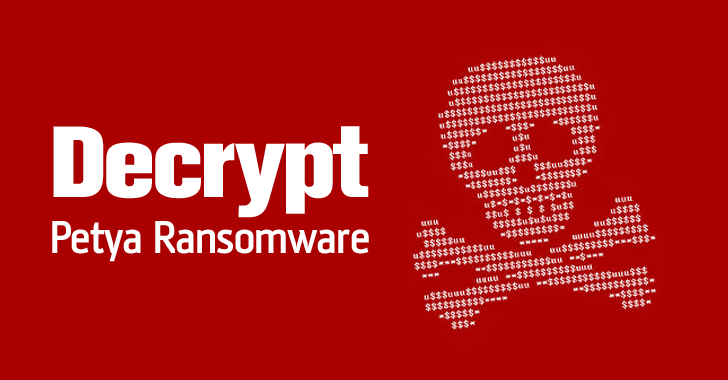 How to decrypt Petya Ransomware for Free