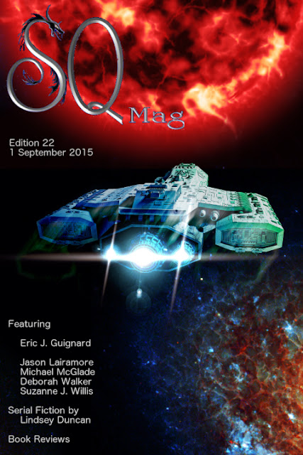 SQ Mag, speculative fiction ezine, Edition 22, cover designed by Kura Carpenter