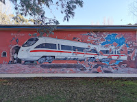 Braemar Street Art | Train Mural