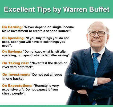 Warren Buffett tips at a glance